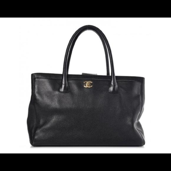 bea0313ab33c CHANEL Bags   Executive Black Calfskin Leather Tote   Poshmark